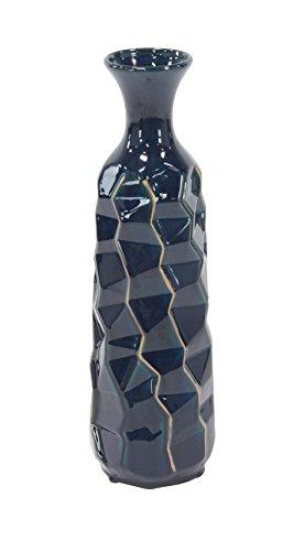 (Deco 79 59960 Ceramic Vase, Blue)