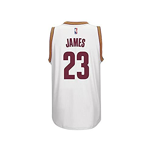 LeBron James Mens White Cleveland Cavaliers adidas Swingman Jersey Large