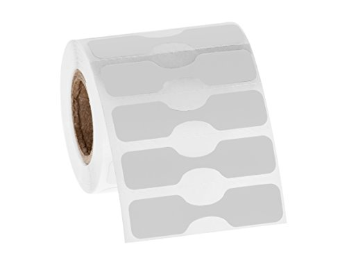 Jewelry Dumbbell Tags - 1,000 Labels/roll # JDB-1 (White)