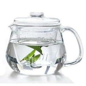 Resistente al calor vidrio de borosilicato Tetera 600 ml con ...