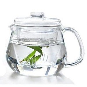 Heat-resistant Borosilicate Glass Teapot 600ml with Infus...