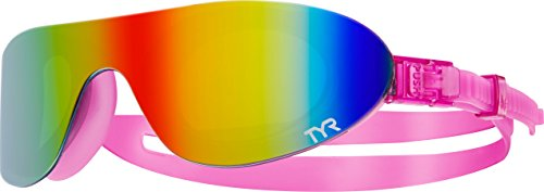 TYR Swim Shades Mirrored Goggles, Rainbow Pink, One