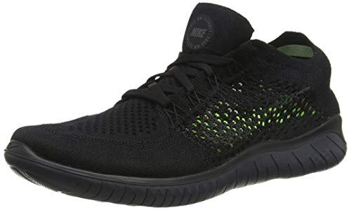 Nike Men's Free RN Flyknit 2018 Black/Anthracite 11.5