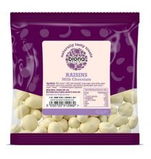 Biona Organic - Yoghurt and White Chocolate Covered Raisins - 60g