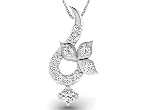 Or Blanc 14 ct Pendentifs Diamant , 0.03 Ct Diamant, GH-SI, 0.33 grammes.