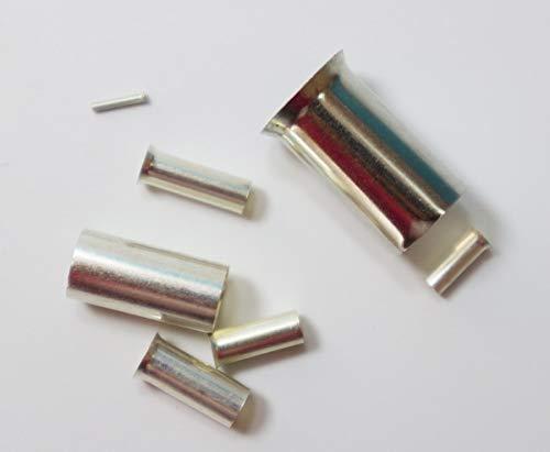 Davitu 100PCS EN1006/1008/1010/1012 Tube Naked Terminal Bootlace Cooper Ferrules kit set Wire Copper Crimp Connector Insulated Cord Pin - (Color: EN1012 100PCS) ()