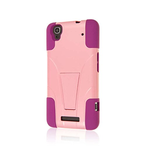 ZTE Boost Max Case (N9520), MPERO IMPACT X Series Dual Layered Tough Durable Shock Absorbing Silicone Polycarbonate Hybrid Kickstand Case for Boost Max [Perfect Fit & Precise Port Cut Outs] - Pink (Boost Mobile N9520 Phone Case)