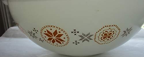 (Pyrex Vintage Orange Brown Snowflake Cinderella Nesting 4 qt. Mixing Bowl)