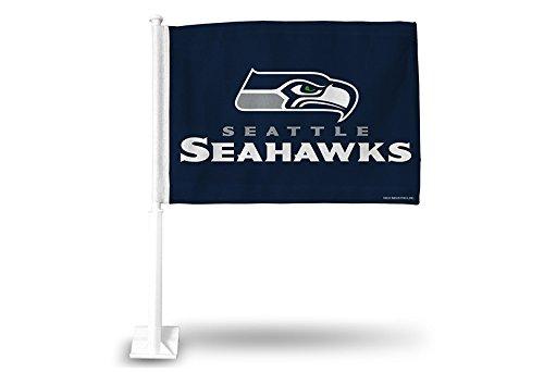 Rico Industries NFL Seattle Seahawks Car Flag - Football Car Flag