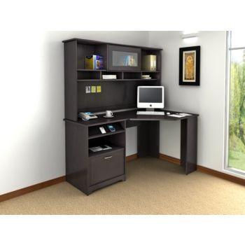 Cabot Collection Corner Desk in Espresso Oak