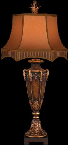 Fine Art Lamps 305410, Brighton Pavillion Tall 3 Way Table Lamp, 1 Light, 150 Total Watts, Bronze