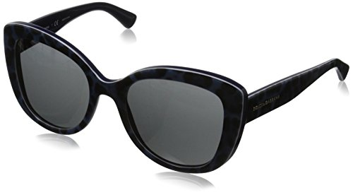 D&G Dolce & Gabbana Women's Enchanted Beauties Cateye Sunglasses, Leo Blue & Grey, 53 - 2014 Dolce And Sunglasses Gabbana