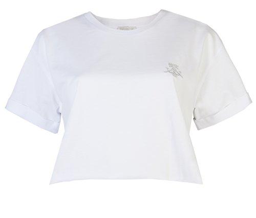 Flirty Wardrobe Haut court T-Shirts Boyfriend souple & Up Turn Brody Co T-shirt à manches courtes et coupe ample danse classique courte