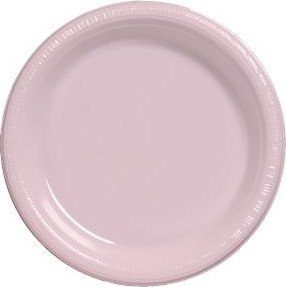 """Creative Converting Classic Pink 7"""" Plastic Lunch Plates - 2"""