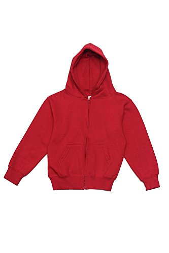 G-Style USA Youth Preshrunk Zip-Up Hoodie YH13178 - RED - Large - S9C]()