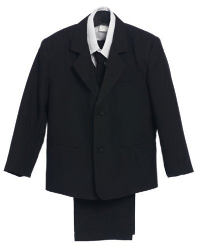 Classykidzshop Black Formal Suit Set with Long Tie from Baby to Teen