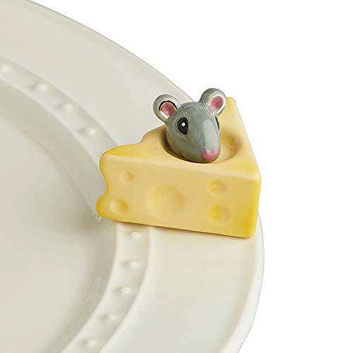 Nora Fleming Hand-Painted Mini Cheese, Please Mouse and Cheese A223