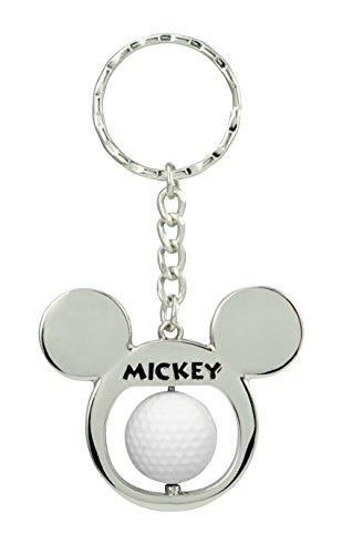 Mickey Golf Mouse - Disney Mickey Golf Ball Spinner Pewter Key Ring Key Accessory
