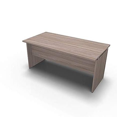 Bianco One Living Scrivania da Ufficio Panel Desk Tavolo Porta PC 140 x 80 x 73 CM L x P x H