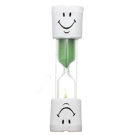 sungpunet Kids Cepillo de dientes temporizador de 2 minutos de cara sonriente de arena temporizador para