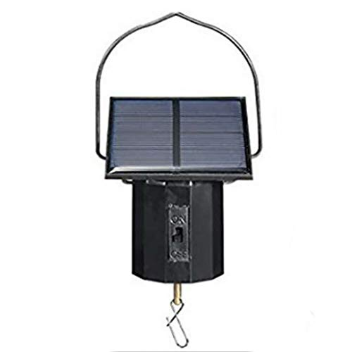 Garden Swirl - Weite Energy-Friendly Solar Powered Rotating Motor Wind Spinner for Hanging Display Garden Decorations, Revolve Twist Turn Twirl Swirl (Black)