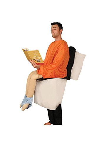 [Sitting on Toilet Funny Party Pooper Adult Costume] (Funny Costumes)