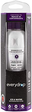 EveryDrop through Whirlpool 10383251 EDR1RXD1 Refrigerator Water Filter 1, Pack of one, Purple