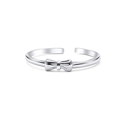 High Polished Sterling Silver Bow Tie Toe Ring by Kezef Creations ()