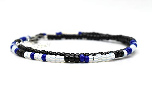 Morse Code Police Wife Bracelet Thin Blue Line, Keep Him Safe Day and Night
