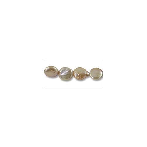 Freshwater Coin Pearls Baroque Light Peach 11-12mm (16