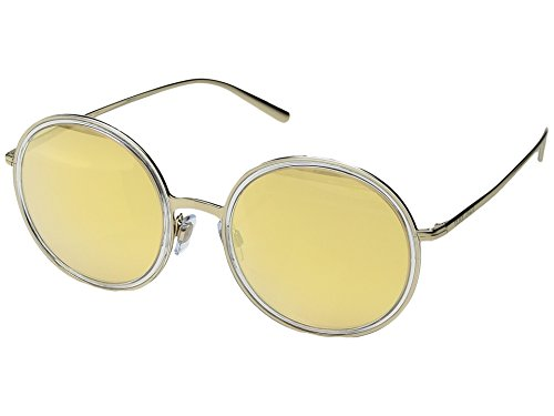 Giorgio Armani  Men's 0AR6052 Pale Gold/Crystal/Orange Mirror Pink One - Sunglasses Armani Gold