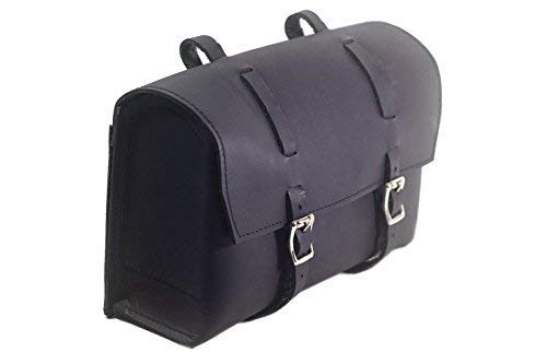 CALYX IN Large Saddle Bag Vintage Leather Bicycle Handlebar Bag Halloween Retro Black (Best Retro Bikes In India)