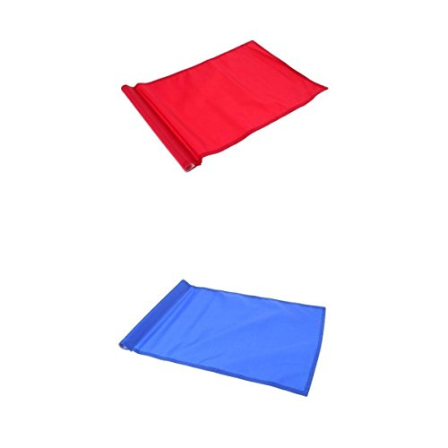 MagiDeal 2Pcs Golf Flag, Golf Putting Green Flag, Backyard Practice Golf Hole Pole Cup Flag Nylon Putting Green Flag by Unknown