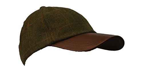 Walker and Hawkes Men's Derby Tweed Baseball Cap Hunting Shooting Hat One Size Dark Sage