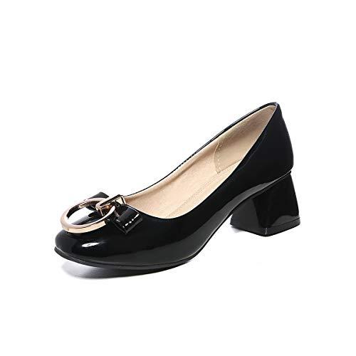 Square Carrée Black Encolure Pour Chaussures À Head Femmes Yp4q4w1