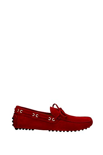 Loafers Car Shoe Men - (KUD006FUOCOSCAMOSCIATO8) UK Red