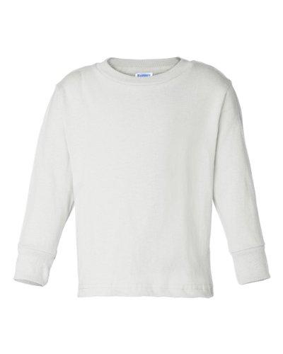 Rabbit Skins Toddler Long-Sleeve T-Shirt (White) (5/6T) White Toddler Cotton Tee