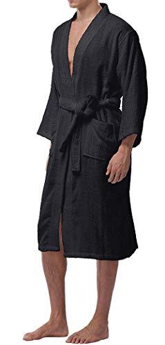 Colore Morbido Confortevole Cintura Uomo Da Con Di Accappatoio Moda Solido Libero Cappotto Lungo E Il Per Sauna Schwarz1 Tempo SaA6wI