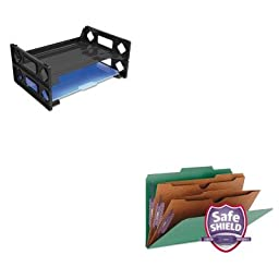 KITSMD19083UNV08100 - Value Kit - Smead Pressboard Folders with Two Pocket Dividers (SMD19083) and Universal Side Load Letter Desk Tray (UNV08100)