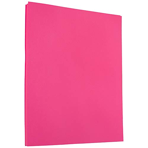 (JAM PAPER Colored 24lb Paper - 8.5 x 11 - Ultra Fuchsia Pink - 50 Sheets/Pack)