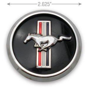 Minigo FM66 Set 2005-2014 Mustang Running Horse and Tri-Bar Pony Wheel Hub Center Caps For Ford Mustang 5W1J-1A096-BA