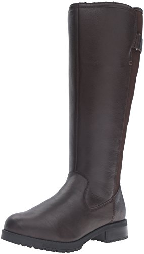 Clarks Women's Faralyn May Riding Boot - Dark Brown - 8.5...