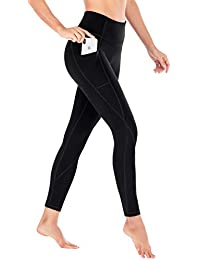 b1c917237405d Yoga Pants with Pockets Extra Soft Leggings with Pockets for Women Non  See-Through High
