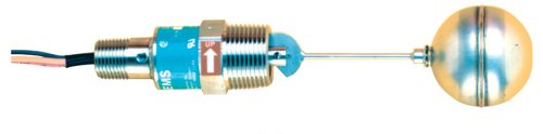 Gems Sensors 30290 316 Stainless Steel Float Single Point Side Mounted Level Switch, 2'' Diameter, 1'' NPT Male, 1'' Actuation Level, 20VA, SPDT by Gems Sensors