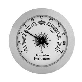 Cigar Hygrometer Analog (Analog Hygrometer- Silver)