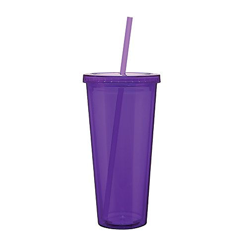 Eco To Go Cold Drink Tumbler - Double Wall -20oz. Capacity - Purple (Cup Purple Tumbler)