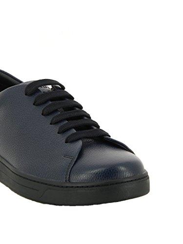 Prada Hombre 4E29961OBCF073A-MC Azul Cuero Zapatillas