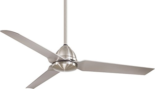 Minka-Aire F753-BNW, Java Brushed Nickel Wet 54 Outdoor Ceiling Fan with Remote Control