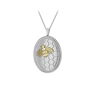 Sterling Silver Rhodium-plated Oval Locket