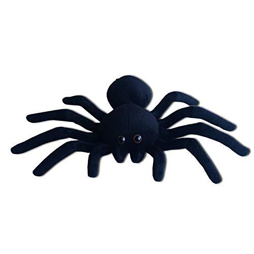 - Black Spider Plush, 9 Inch Collectible Decorative Big Eyes Tarantula Stuffed Toy Soft Take A Long Plushie Pillow Squishes Washable Cushy Mini Doll